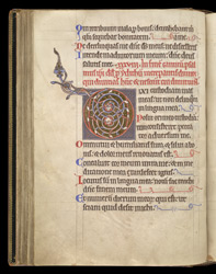 Illuminated Initial To Psalm 38, In A Psalter